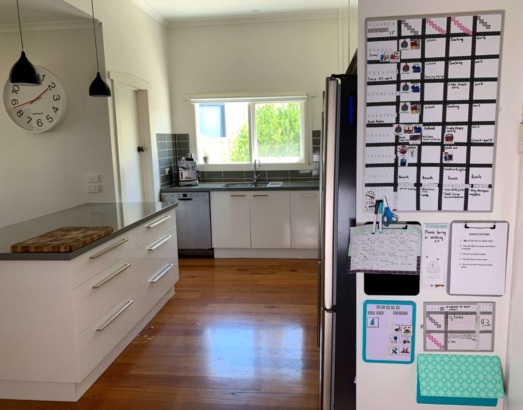 Get your family organised with Command Centre | Family command centre help you feel more organised and are found in one spot in the home.| https://simplyhappy.com.au/family-command-centre/