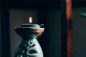 Candle for yoga session | yin-yoga | mindfulness